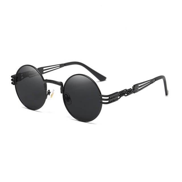0c06a8fc2eff9 TSHING RAY Gothic Steampunk Rodada Óculos De Sol Dos Homens do Metal Rodada  Shades Masculino Transparente