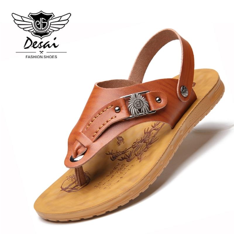 DESAI Brand 2018 Summer Shoes Men Sandals Flip Flops Dual-use Casual Sandals Fashion Trend Cool Slippers