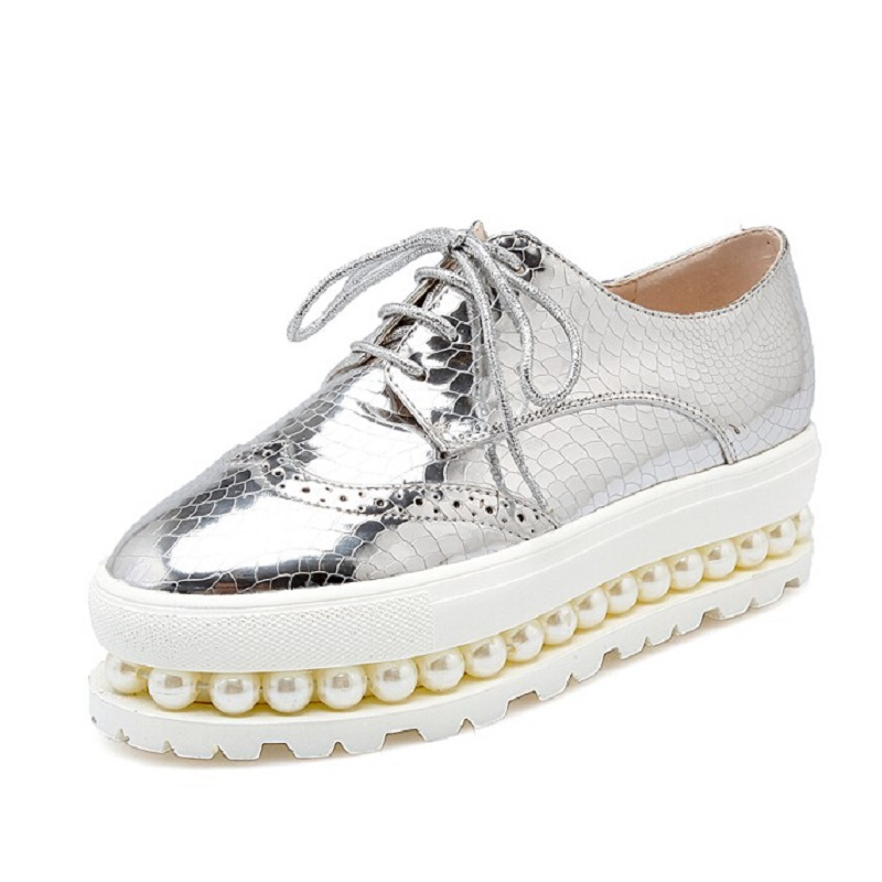 Aliexpress.com : Buy Sliver Pink Oxfords Shoes Woman 2016