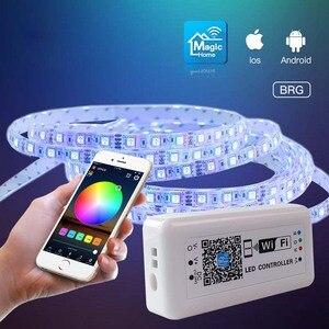 24 В DC 12 В LED WIFI RGB драйвер для 2835 SMD 5050 RGB полосы света приложения для IOS и Android мобильный WIFI RGB LED контроллер