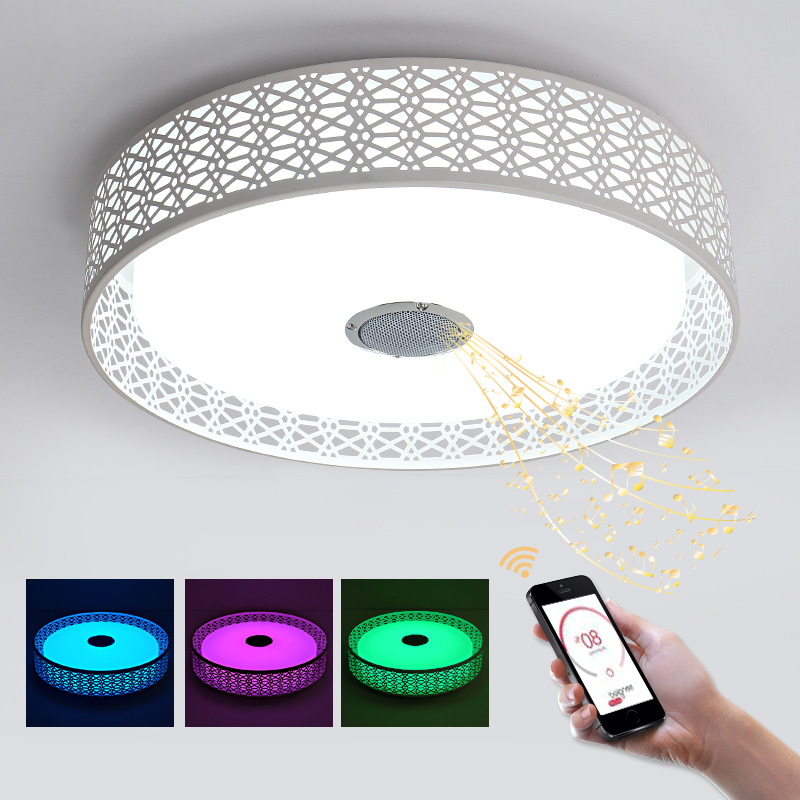 blue time 36w rgb music lamp chandelier led with bluetooth control color changing lighting white. Black Bedroom Furniture Sets. Home Design Ideas