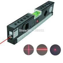 Ferramenta de medição vertical bolha laser, 5 em 1, alinhador de linhas de marcação a laser régua