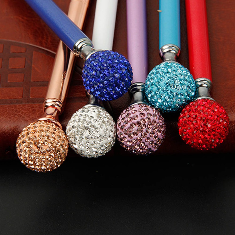 Kawaii Crystal Ball Ballpoint Pen Colorful Creative Novelty Student Gift School Office Stationery