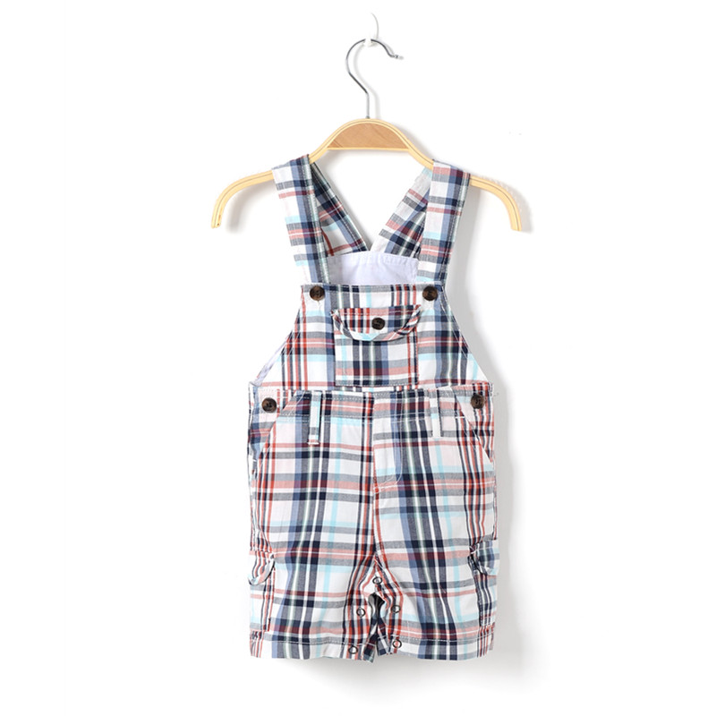 newborn baby boy summer clothing  toddler overalls clothes children dungaree plaid romper cotton baby jumpsuits kids 1 2 years 2017 baby girl summer romper newborn baby romper suits infant boy cotton toddler striped clothes baby boy short sleeve jumpsuits