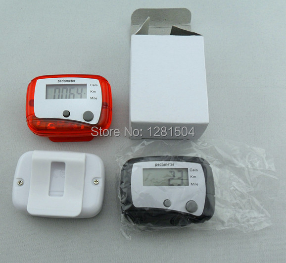 100pcs/lot LCD Pedometer Step Calorie Counter Walking Distance Sport Pedometer,w