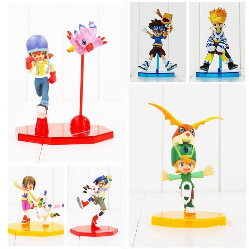6 estilos Digital Digimon aventura ISHIDA YAMATO Gabumon Yagami Taichi Agumon Hikari Sora PVC figura de acción Digimon modelo de juguete