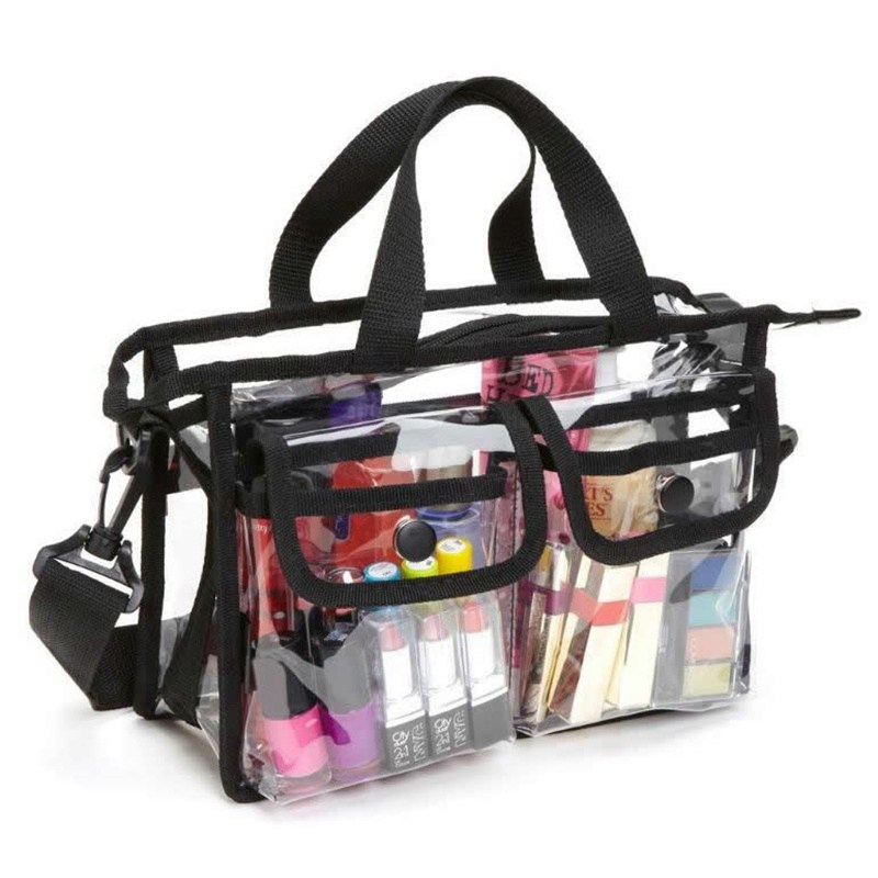 Transparent PVC Travel Cosmetic Bag Zipper Make Up Bag Functional Makeup Case Organizer Storage Pouch Toiletry Wash Bath Kit Bo