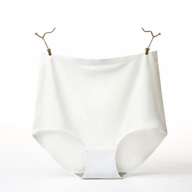 V006 4 unids/lote ropa interior de calidad de seda hielo bragas sin costuras para mujer Bragas bonitas Lencería de cintura alta Calcinha de talla grande 4XL