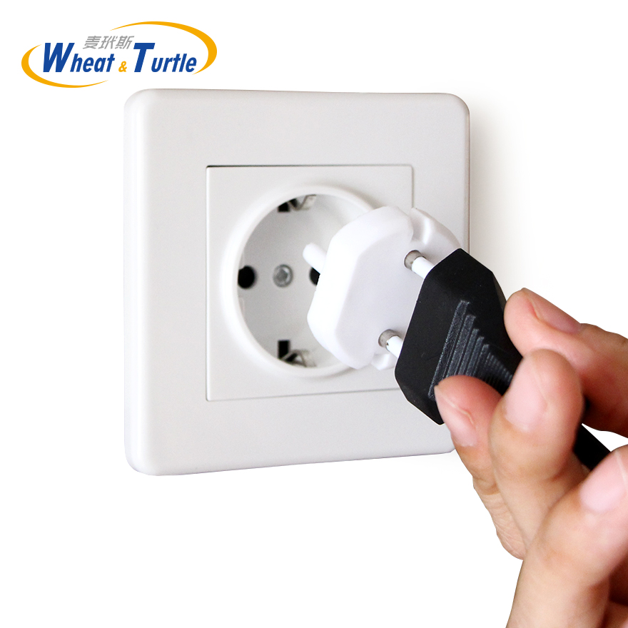 Child Baby Kids Electric Socket Security Plastic Safety Safe Lock Cover EU Plug Two Pin Phase Outlet European Standard Socket