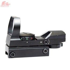 Image 3 - 20 ミリメートル/11 ミリメートルホロ視力ライフルスコープ狩猟オプティクス照準装置 4 レチクル視力反射赤グリーンドット