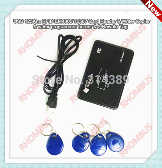 USB 125Khz RFID EM4305 T5567 Card Reader/Writer Copier/Writer programmer burner ноутбук dell inspiron 5567 5567 1998 5567 1998