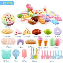 25-37Pcs Kids Pretend Play Birthday Cake Cutting Vegetables Fruit Food Cooking Kitchen Toy Girls Gift for Children BEI JESS(China)