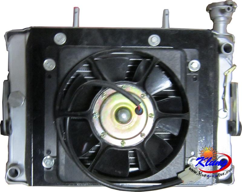 KLUNG алюминиевый радиатор с большим вентилятором двигателя для двигателя мотоцикла 300cc-500cc