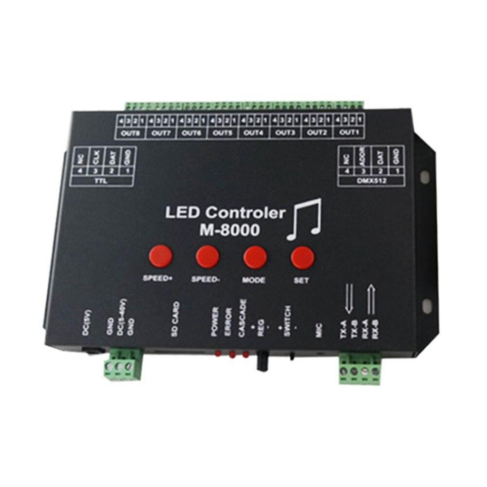 M 8000 программируемая RGB Светодиодная лента музыкальный контроллер для WS2812B WS2812 SK6812 Светодиодная лента DC5 24V 8096Piexl