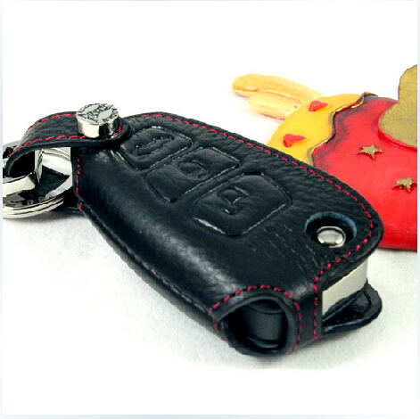 Genuine Leather Car Key Case for Ford Focus Mondeo Kuga,Key Rings