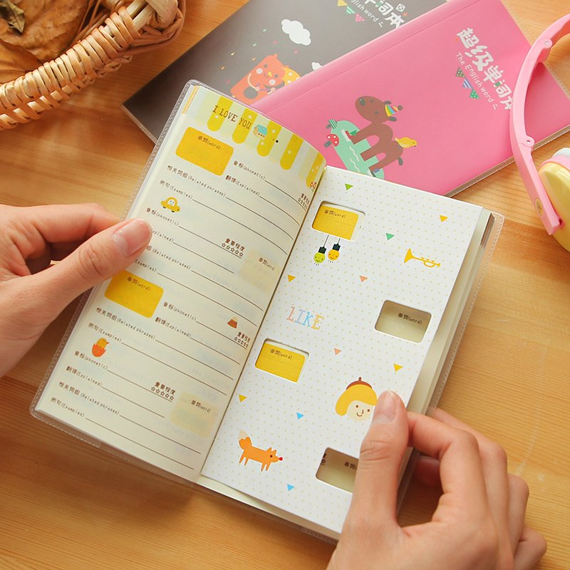 South Korea Stationery Creative Candy Color Super English Word Book Lovely Students Portable Note Pads