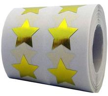 Gold Star Shape Stickers - 3/4