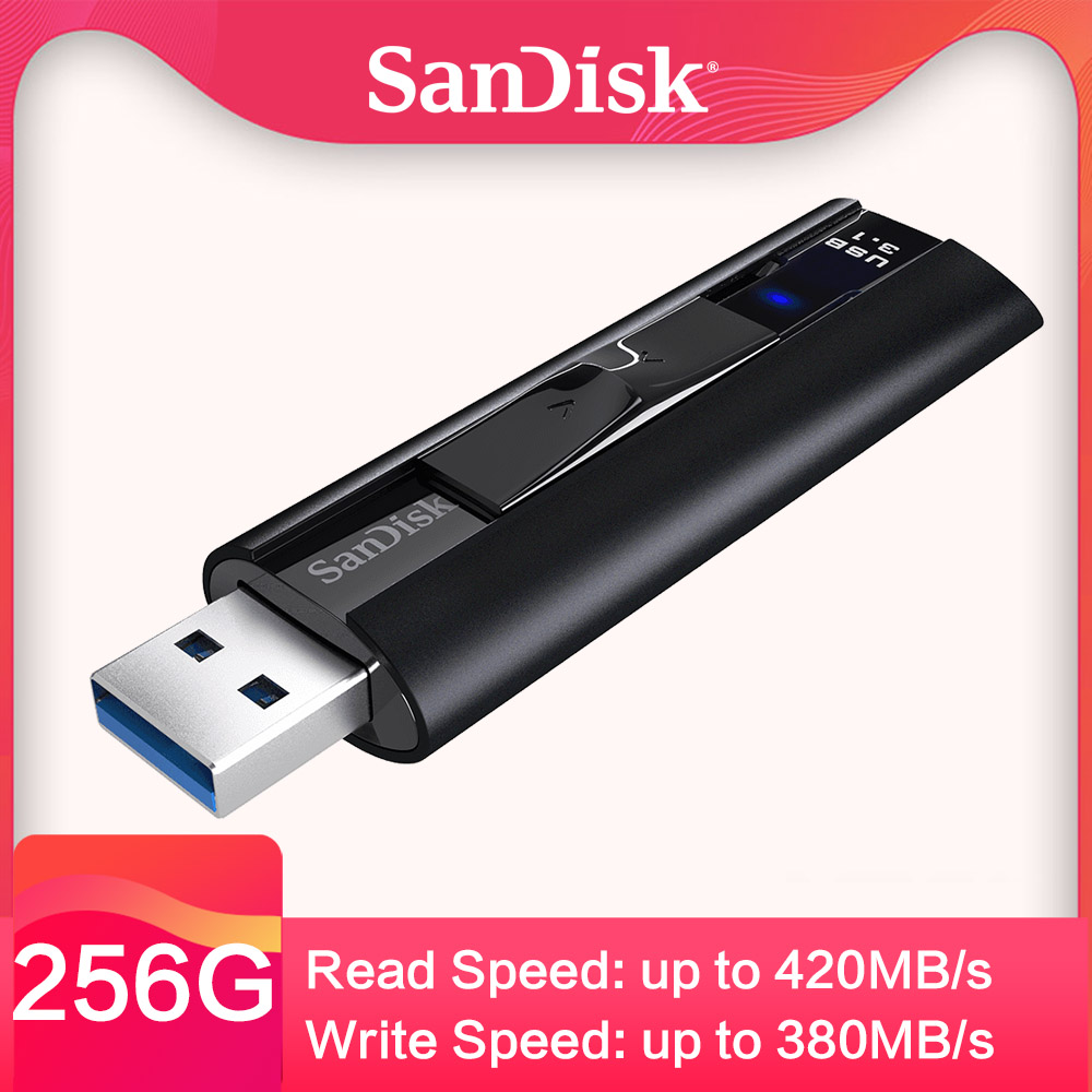 SanDisk Extreme PRO 128 GB USB 3.1 clé usb lecteur Flash à semi-conducteurs 256 GB lecteur de stylo clé Usb clé USB haute vitesse 420 mo/s