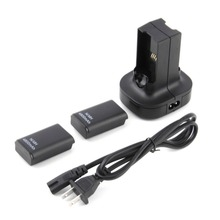 2pcs 4800mAh Rechargeable Battery + Charging Station Charger Dock For Xbox 360