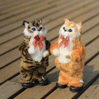 30 CM Elettronico Garfield Gatto Peluche Carino Bambola Musicale Interattivo Cat Toy Scherza il Regalo Dei Bambini Del Bambino Creativo Divertente Di Compleanno regalo