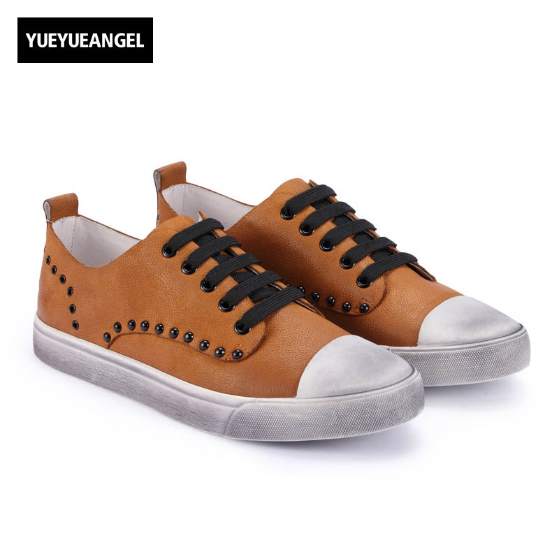 England Style Retro New Fashion Men Lace Up Genuine Leather Cow Male Casual Shoes Breathable Sapatenis Masculinos Casual Yellow top quality england style retro mens cow genuine leather brogue shoes male casual shoes lace up round toe breathable wing tip