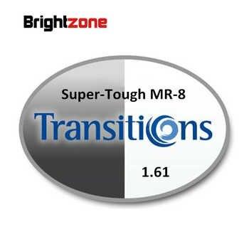 1.61 Super-tough MR-8 Photochromic Gray & Brown HMC UV AR Unisex CR-39 eyeglasses prescription RX lenses for myopia astigmatis - DISCOUNT ITEM  10% OFF All Category