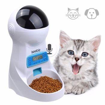 3L Automatic Pet Food Feeder With Voice Recording