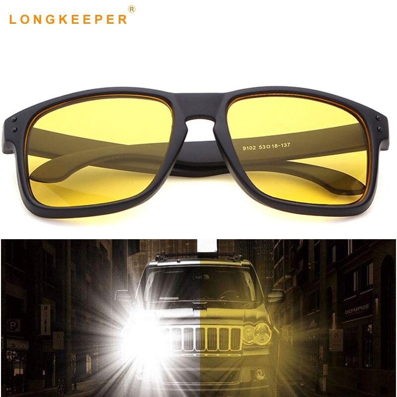 a9017d7c05 Amarillo noche visión gafas de sol hombres mujeres conducir conductor gafas  lente AC marco de la PC gafas remache gafas de sol zonnebril hombre