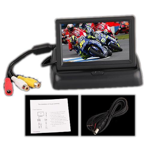 "4.3 ""Folding Dobrável Monitor LCD Rear View Camera Backup Para Carros"