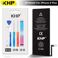 NEW 2017 100 Original KHP Phone Battery For IPhone 6 Plus Battery 2915mAh Repair Tools 0