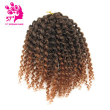 Dream ice's Mali Bob Crochet Braids Hair 8 inch Ombre Color Twist Braiding Synthetic Hair Extensions 3pcs 90g(China)