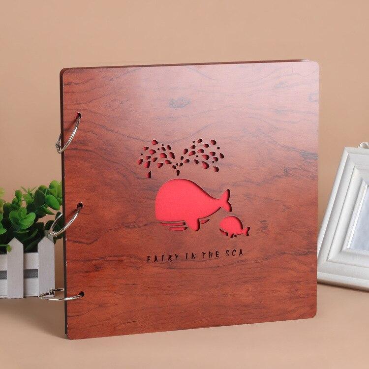 12 x 12 Inch DIY Scrapbook Photo Album Hardcover Kraft Blank Pink Page Wedding and Anniversary Family Photo Album Pink, 12Inch