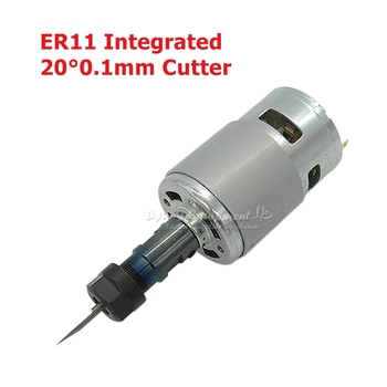 10000 Rpm Desktop Mini CNC Spindle 120W with ER11 Collet Extension Rod for CNC DIY Engraving Machine 2