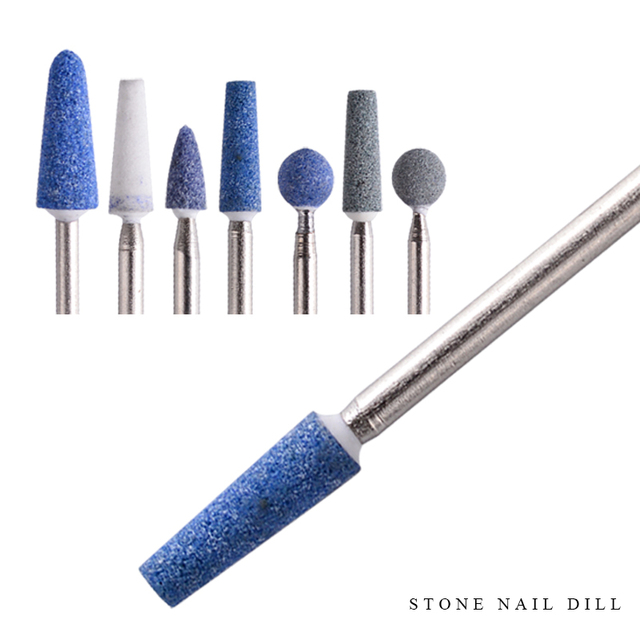 1 piece Stone Nail Drill Bit Round Burr Cuticle Clean Mill Bits For ...