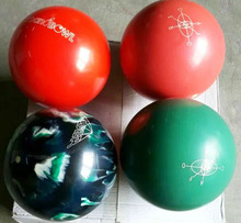 red 8lbs glow in dark professional bowling ball