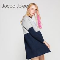 Jocoo Jolee Casual Long Knitted Cardigans Autumn Patchwork Long Sleeve Design Sweater Jacket Sweater For Women