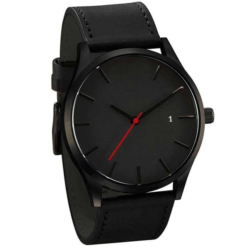 Męskie zegarki sportowe minimalistyczne zegarki męskie zegarki na rękę zegarek ze skórzanym paskiem erkek kol saati relogio masculino reloj hombre 2020 1
