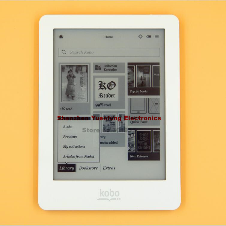 eBook eReader Kobo Glo N613 e-Book Touch screen e-ink 6 inch 1024×768 2GB WIFI book Reader
