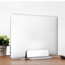 Aluminum Adjustable Vertical Books Laptop Stand Thickness Adjustable Desktop NoteBooks Holder Mount Erected for MacBook Pro/Air