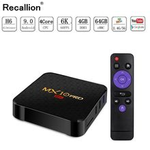 Android 9.0 TV Box MX10 PRO 4GB RAM 64GB 5.8G Wifi Allwinner H6 Quad Core USB 3.0 6K Google Player Youtube Tanix Set Top