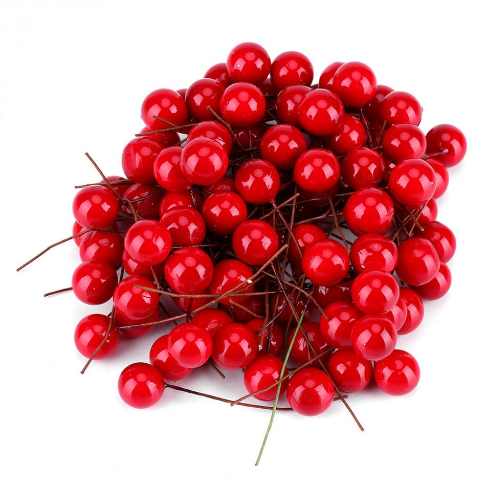 100pcs Artificial Red Holly Berry Christmas DIY Home Garden Decorations Christmas Supplies-in Pendant & Drop Ornaments from Home & Garden on Aliexpress.com   Alibaba Group