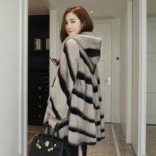 LVCHI mink coats European star special Noble New Natural Full Pelt Mink Fur Winter Coat Women's Fashion  whole leather mink coat