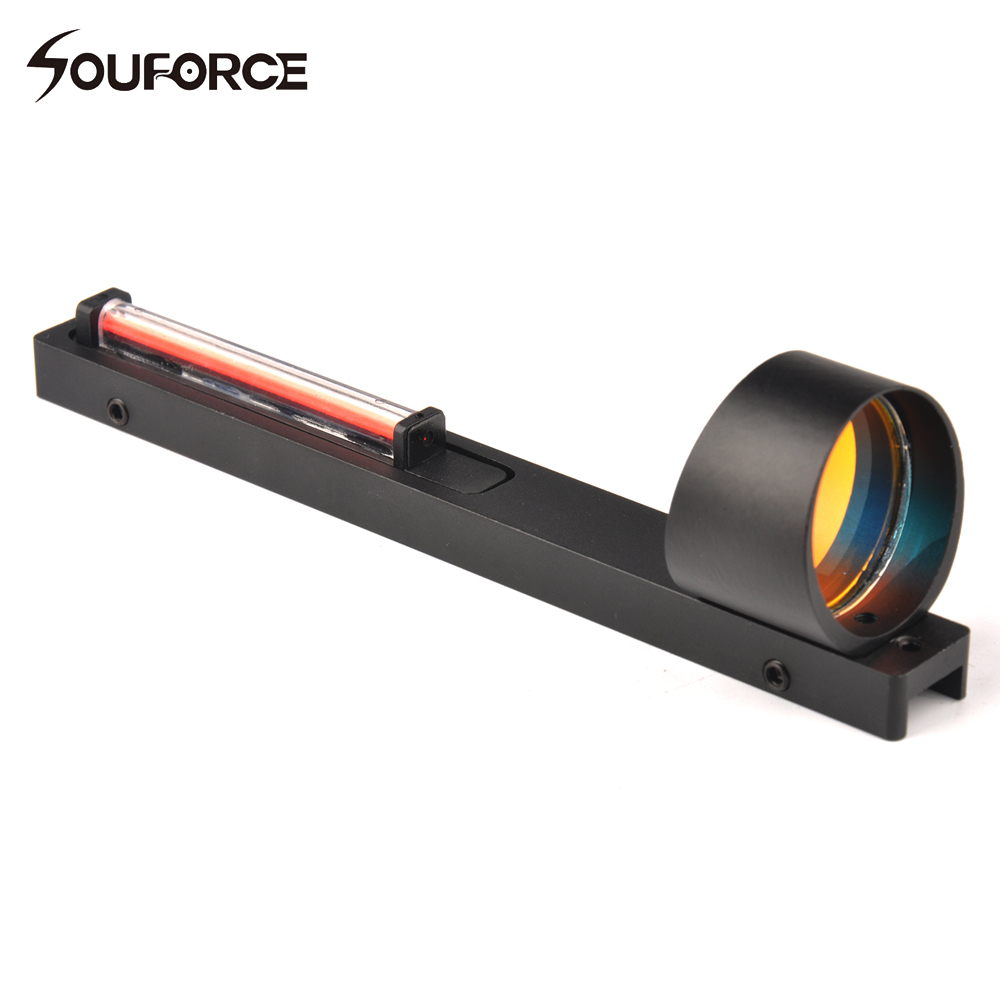1x25 Red Fiber Red Dot Sight Scope Holographic Sight Fit Shotgun Rib Rail Hunting Shooting