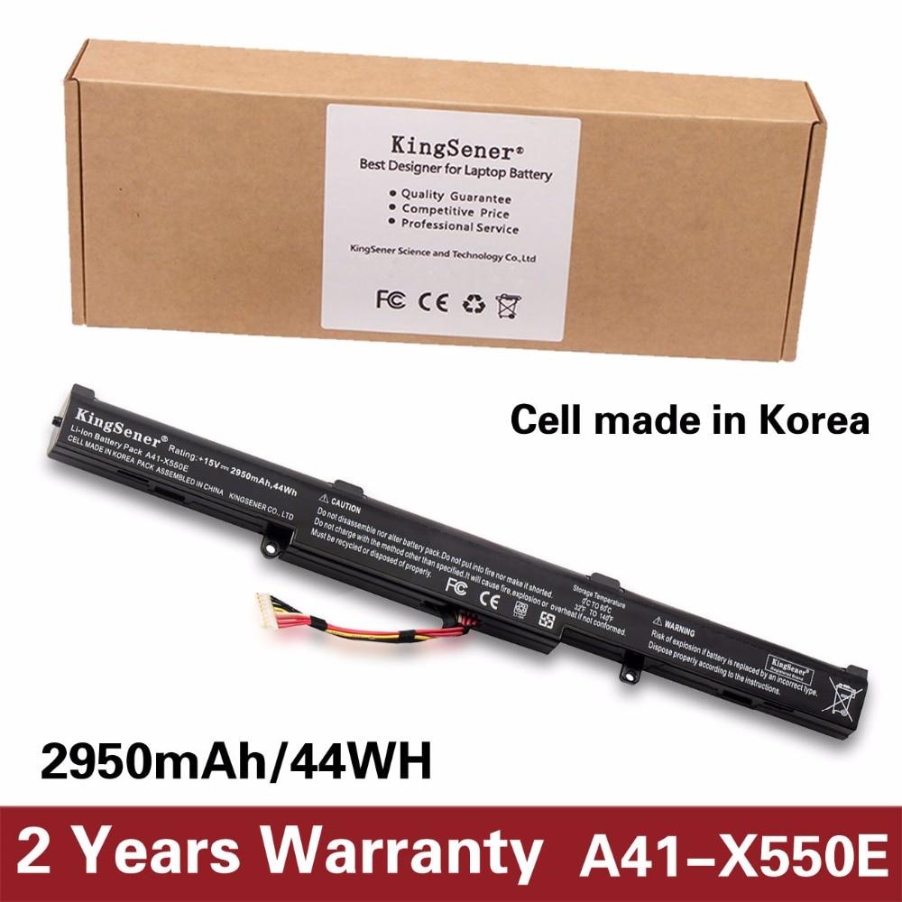 KingSener A41-X550E Laptop Battery for ASUS K550D K550DP D451V X550DP X550D F550D R752LJ R752LD R752LB R752M R752L R751J P750L