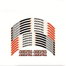 Motorcycle High Quality 3M Adhesive Wheel Decal Reflective Stickers Rim Stapes For Honda CBR CBR600RR CBR954RR CBR1000RR REPSOL(China)