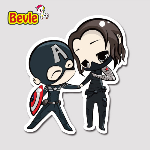 Bevle 9274 super hero captain america winter soldier waterproof stickers laptop luggage fashion car graffiti cartoon