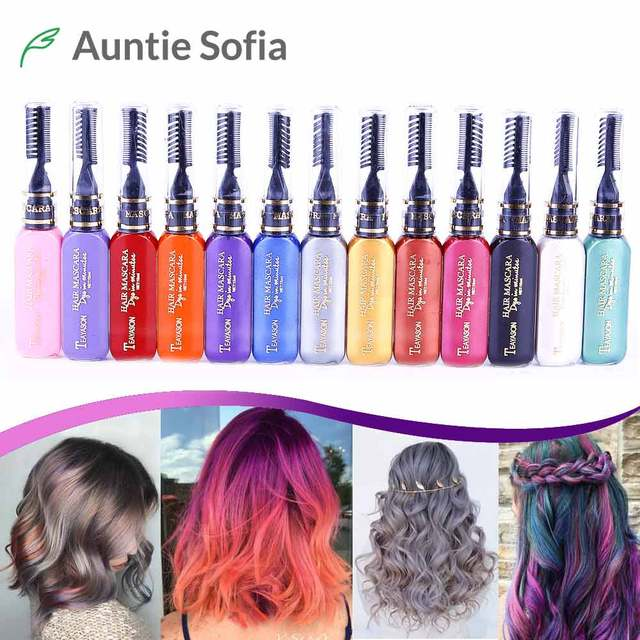 13 Colors One off Hair Color Dye Temporary Non toxic DIY Hair ...