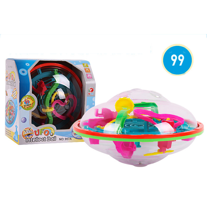 Large 99 Steps 3d Magic Intellect Maze Ball Track Puzzle