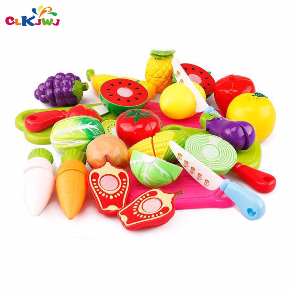 CLKJWJ Fruits Vegetables Honestly Set Cut Simulation Game Toys Children Kids Multicolor Gift For Baby Girl Baby Boy