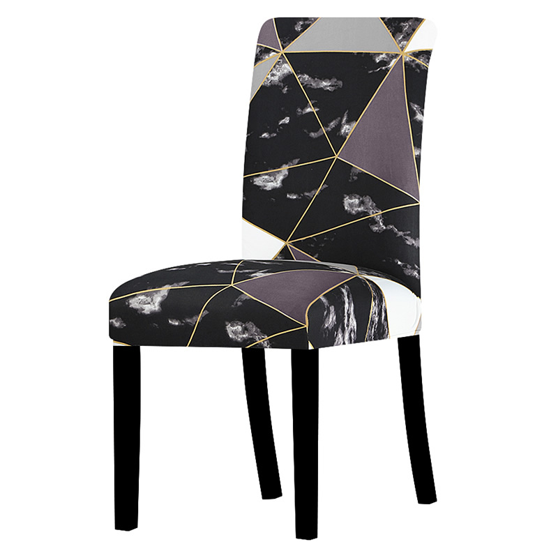 All Black Color Design Chair Cover Washable Removable Big Elastic Seat Covers Stretch Slipcovers Used For